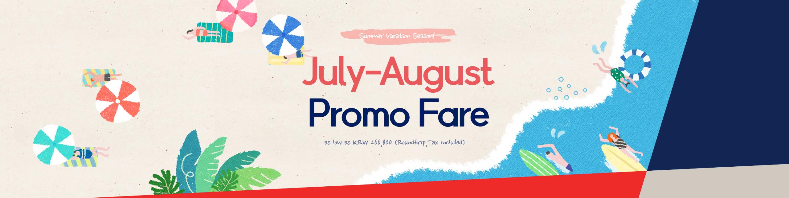 Summer Vacation Season Promo Fare